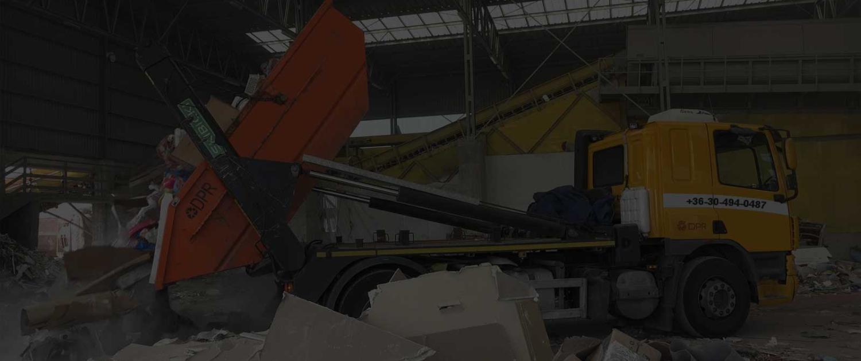Konténeres sittszállítás Budapesten saját feldolgozó üzemünkben kezeljük a hulladékot